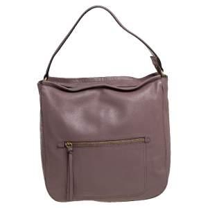 Cole Haan Mauve Purple Leather Jade Bucket Bag