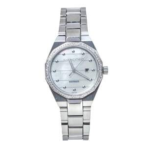 Concord White Mother Of Pearl Stainless Steel Diamonds Mariner 05.3.14.1097 Women's Wristwatch 30 mm