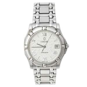 Concord Silver Stainless Steel Saratoga SL 14-C2-230 Unisex Wristwatch 34 mm