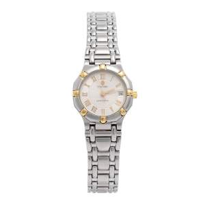 Concord Silver Two-Tone Stainless Steel Saratoga 1573287G Women's Wristwatch 23 mm