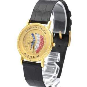 Corum Champagne 18K Yellow Heritage Coin Women's Wristwatch 31 MM