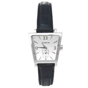 ساعة يد نسائية كورم ترابيز 105.404.20 جلد و ستانلس ستيل فضية 29 مم