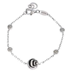Damiani Damianissima Onyx Diamond Silver Station Bracelet