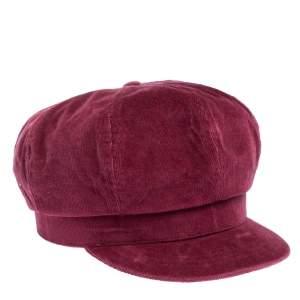 D&G Rosewood Pink Corduroy Newsboy Cap S