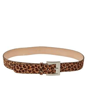 حزام دي أند جي بيج نقشة الفهد 90 سم