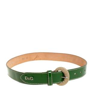 D&G Green Patent Leather Belt 80CM
