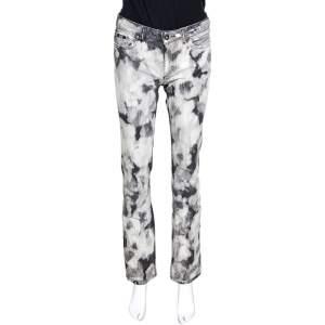 D&G Grey Acid Washed Denim Straight Fit Jeans S