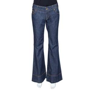 D&G Indigo Denim Flared Jeans M