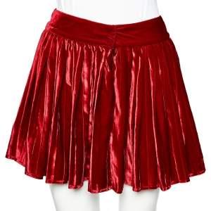 D&G Red Velvet Pleated Mini Skirt M