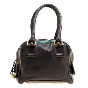 D&G Multicolor Leather Lily Bowler Bag
