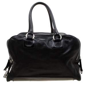 D&G Black Leather Lily Satchel