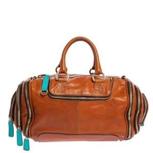 Dolce & Gabbana Brown Leather Emy Duffel Bag