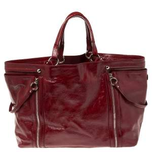 D & G Red Patent Leather Large Gaia Tote