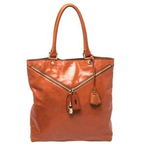 DandG Orange Leather Micol Tote