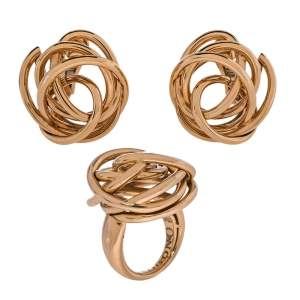 De Grisogono Matassa 18K Rose Gold Set of Earrings & Ring