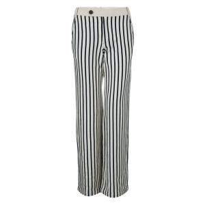 10 Crosby Derek Lam Striped Cotton Trousers S