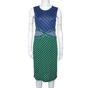 Diane Von Furstenberg Multicolor Printed Silk Jersey Evita Dress M