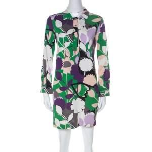 Diane von Furstenberg Multicolor Printed Silk Jersey Nicole Tunic M