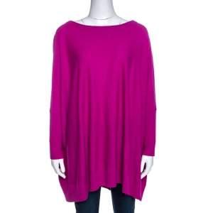 Diane von Furstenberg Roseberry Pink Wool Blend Ahiga Bis Sweater S