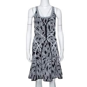 Diane von Furstenberg Black Panther Lace Jacquard Ilsa Dress M