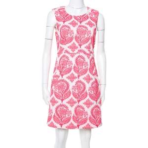 Diane von Furstenberg Pink & White Floral Stamp Carpreena Mini Dress M