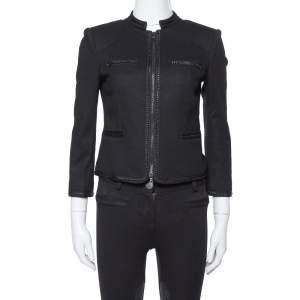 Diane Von Furstenberg Black Felted Wool Roccoco Jacket S