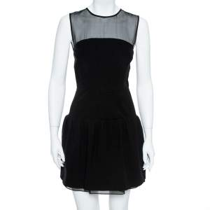 Diane von Furstenberg Black Yarra Mini Dress S