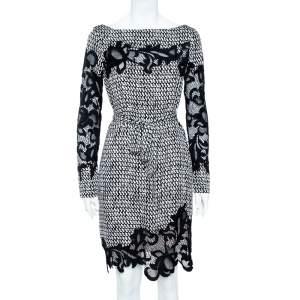 Diane von Furstenberg Monochrome Stretch Silk Ernestina Dress M