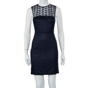 Diane Von Furstenberg Navy Blue Kinchu SG Lace Dress S