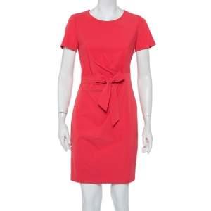 Diane von Furstenberg Pink Jersey Draped Waist Tie Detail Zoe Dress S
