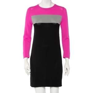 Diane Von Furstenberg Colorblock Striped Knit Aina Mini Dress S