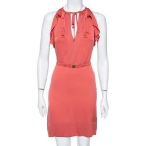 Diane Von Furstenberg Dusky Coral Silk Short Berit Dress M