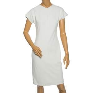 Diane Von Furstenberg White Knit Maizah Short Dress M