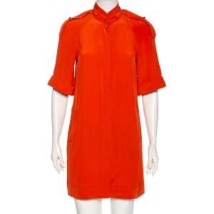 Diane von Furstenberg Orange Silk Jafartha Mini Dress S
