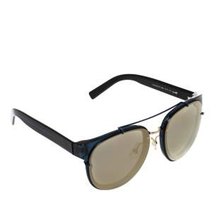 Dior Blue/Gold Mirror Blacktie143S Round Sunglasses
