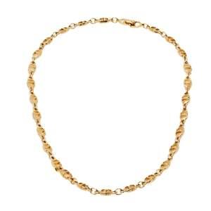Christian Dior Vintage CD Logo Gold Tone Necklace