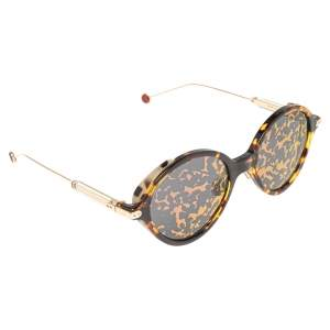 Dior Tortoise/Pink Acetate DiorUmbrage Mirror Round Sunglasses