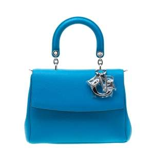 Dior Light Blue Leather Small Be Dior Flap Bag
