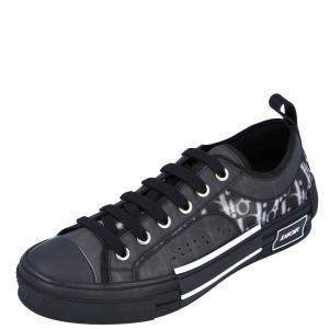 Dior Black Oblique Canvas B23 Low top Sneakers Size EU 37