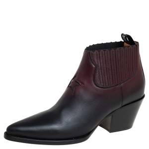 Dior Black/Brown Leather Dior L.A Ankle Boots Size 40