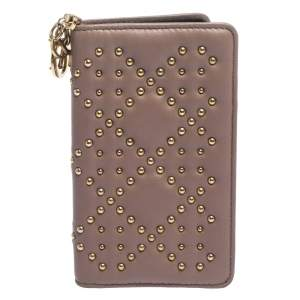 Dior Old Rose Studded Leather Lady Dior iPhone 7 Cover Case
