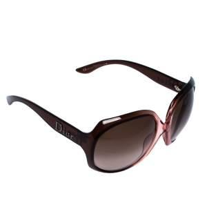 Dior Brown Havana/ Brown Gradient Glossy1 Oversized Sunglasses