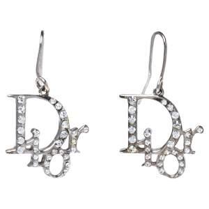 Dior Oblique Crystal Hook Earring