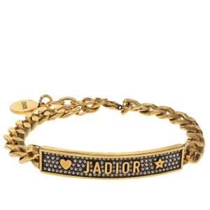 Dior Antique Gold Tone Crystal J'Adior Bracelet