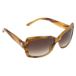 Christian Dior Blonde Havana/ Smoke Gradient DiorMini2 Rectangle Sunglasses