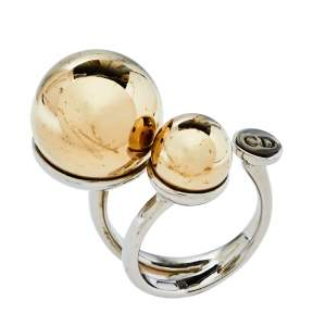 Dior Two Tone Metal UltraDior Ring M