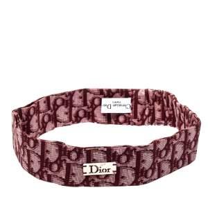 Dior Red Oblique Print Cotton Silk Headband