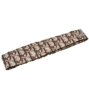 Dior Brown Oblique Print Cotton Silk Headband