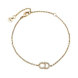 Dior Clair D Lune Crystal Gold Tone Bracelet