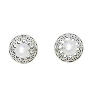 Christian Dior Secret Cannage Mise en Dior Tribales Stud Earrings